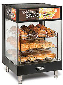 "NEMCO HOT FOODS, 3-TIER, ANGLED 15"" SQUARE SHELVES Model 6424"