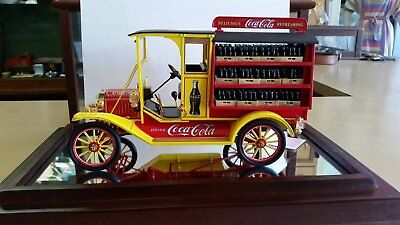 Vintage Red and Yellow Die Cast Model Coca-Cola Truck