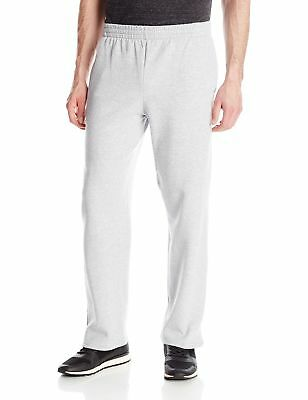 Fruit of the Loom Men's Pocketed Open-Bottom Sweatpants Athletic Heather New