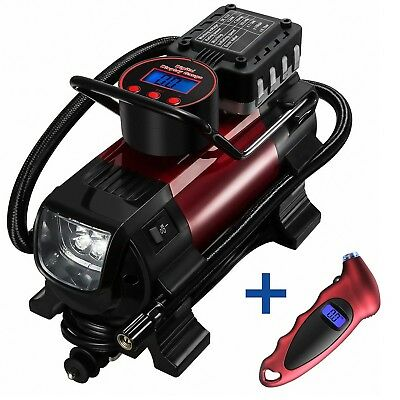 OMorc Tire Inflator 12V DC Portable Tire Inflator Multifunctional Metal A... New