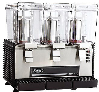 Omega Drink Dispenser With 3 Gallon Bowls Osd30