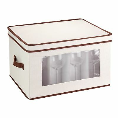 Honey-Can-Do SFT-02068 Natural Canvas Soft Storage Chest Tall Window Box ... New