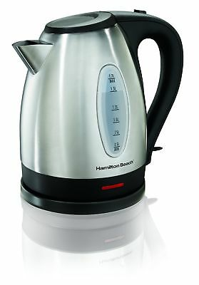 Hamilton-Beach 40880C 1.7L Electric Kettle Stainless Steel New