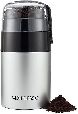 Electric Coffee Grinder - Stainless Steel Blades - by Mixpresso (3 oz Sta... New