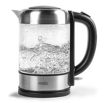 Molla Pro Cordless Glass Electric Water Kettle New