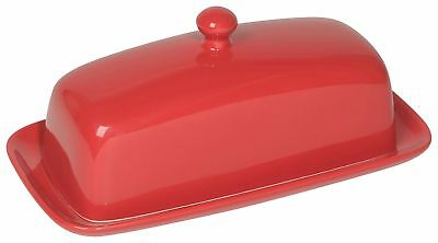 Now Designs Butter Dish Red New