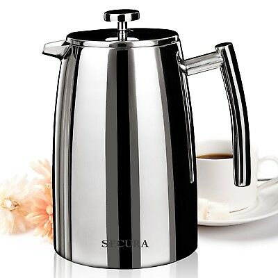 Secura 1500ML French Press Coffee Maker 50-Ounce Stainless Steel 18/10 SF... New