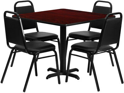 Flash Furniture restaurant table set HDBF1010-GG