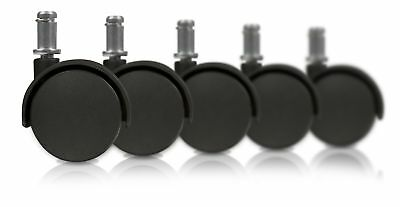 Slipstick CB682 50mm (2 Inch) Replacement Office Chair Wheels (Set of 5 C... New