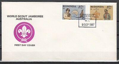 Redonda-Antigua, 1987 issue. Scout Jamboree issue. First day cover.