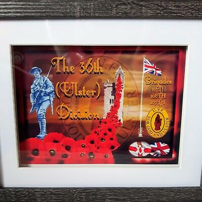 WW1 - Ulster Volunteer Force (UVF) 1914 - 1918 10 X 8 BOX FRAME PICTURE no clock