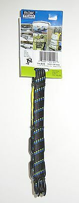 ROK Straps All Purpose Flat Tie Down Luggage Strap with hooks 60 inch x 3/4 inch