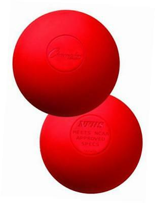 colored lacrosse balls: red official size for professional, college & grade