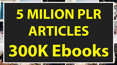 Massive 4,500,000 Plr Articles, 200.000.000 ebooks