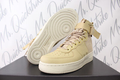 wholesale dealer 28e66 9f942 Nike Womens Sf Af1 Air Force 1 Mid Sz 8.5 Mushroom Tan Light Bone Aa3966 200