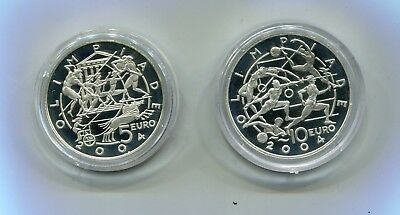 San Marino : Silver Proof Set 5 and 10 Euro 2003 -  Olympians