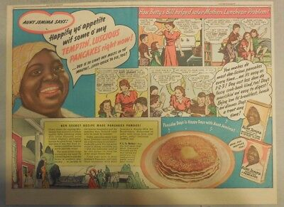 Aunt Jemima Pancakes Ad: Happify Yo' Appetite with Pancakes! 1930-1940's