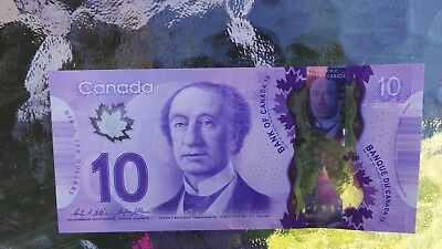 Canadian $10 Dollar Bank Note Polymer Bill FTS7153371 Circulated 2013 Canada