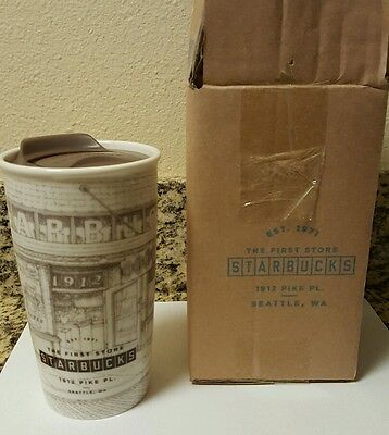 starbucks pike place store seattle collectors 12 oz. ceramic tumbler  NWT