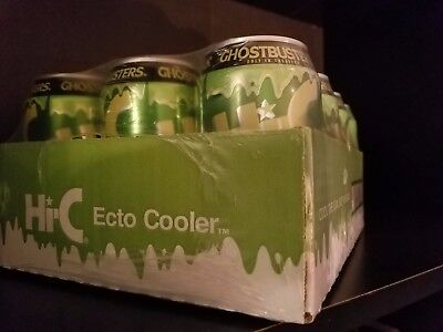 Ghostbusters Hi-C Ecto Cooler Limited Edition 12- 11.5 Ounce Cans Sealed.