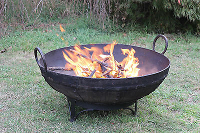 Fire Pit Bowl Place FREE delivery some areas. Genuine Old Indian Kadai 65-74cm