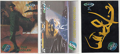 Lot of 3 Batman Metal Forever Cards - Gold Blaster, Video & Movie Preview cards