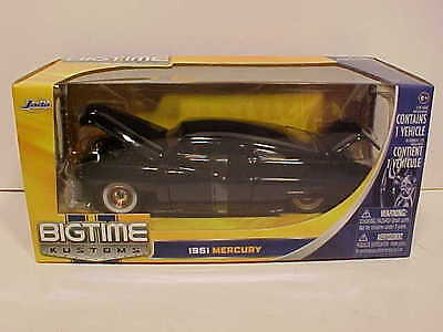 1951 Ford Mercury Low Rider Coupe Diecast Car 1:24 Jada Toys 8 inch Glossy Black
