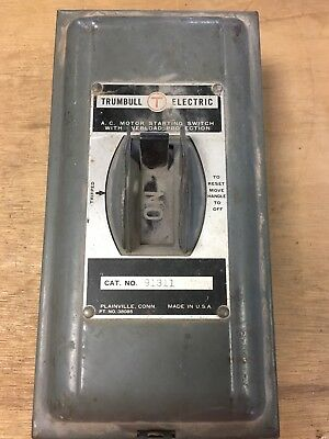 Trumbull Electric AC Motor Starting Switch with Overload Protection