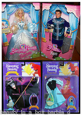 Sleeping Beauty Barbie Prince Ken Doll Peasant Dress Fashion Maleficent Mask 4