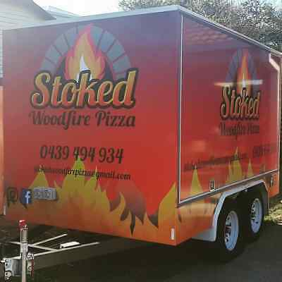 Wood-Fired Pizza Trailer - Mobile Food-Takeaway