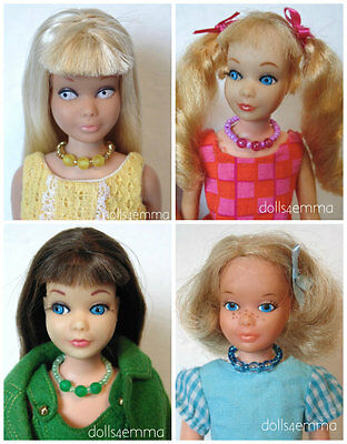 Vintage Skipper Doll JEWELRY Lot of 8 Necklaces Rainbow Barbie sis NO DOLL d4e