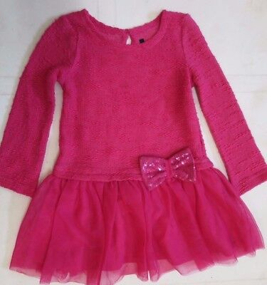 Girls dress party George  baby age 1,5 2 3 3 4 5 6 years cerise pink  NEW