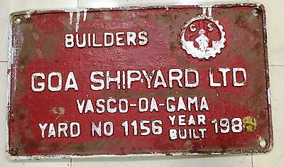 Nautical Vintage Maine Brass Name Plate Builder