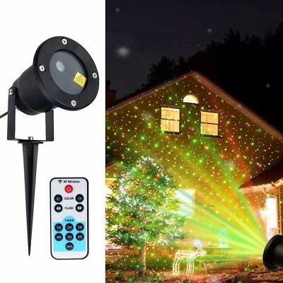 LED Laser Projector Light Snow Star Garden House Party Outdoor Christmas Decor