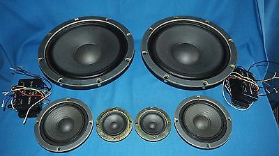 Nisco full set of speaker drivers with crossovers made in Japan