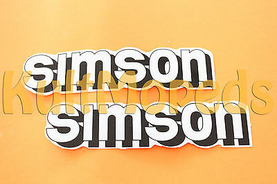 2 Sticker Emblem Pass for SIMSON S51 S50 S70 Lettering Tank White Adhesive
