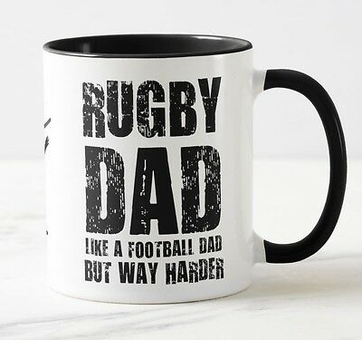 NEW Rugby Dad Mug - Fathers day / birthday gift  / christmas / Rugby gift