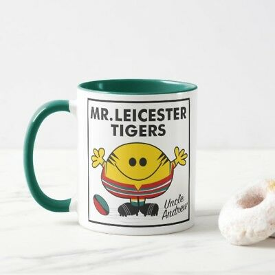 Personalised Leicester Tigers Rugby Mug - choice of colours