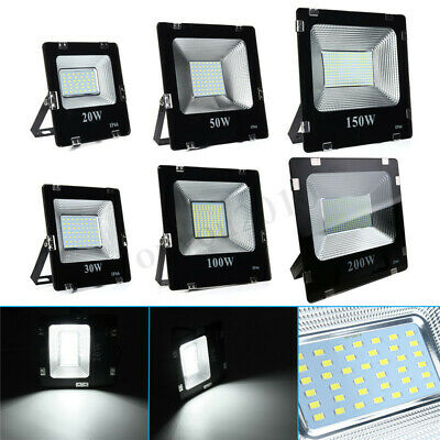 20W 30W 50W 100W 200W LED Flood Spot Light Projecteur Lampe Landscape Extérieur