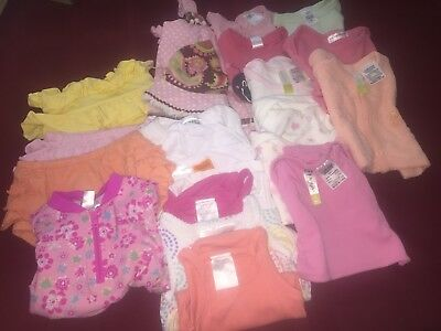 Mixed Lot 17 Items Baby Girl Summer Clothes Sz 0
