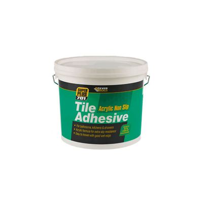 Everbuild 701 Non Slip Ready Mixed Acrylic Based Tile Adhesive 5 Or 10 Litre