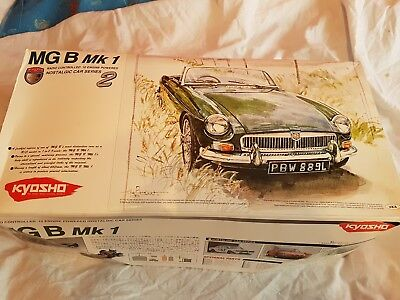 Kyosho Nostalgic Body set MG B mk1 with Manual + box