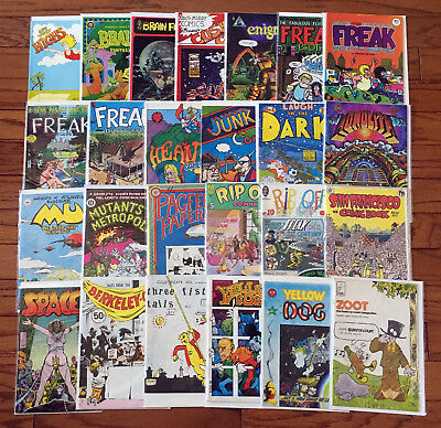 25 Underground Comix (Lot H): Spaced, Junk, Heavy, Pagfeek, Highs / 3.5 to 9.2