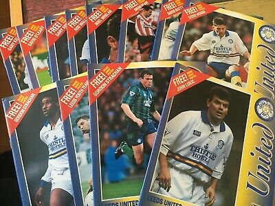 Leeds United HOME programmes 1992/93 and 1993/94