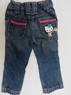 Girls jeans Hello Kitty M & S Baby 12 18 m 2 3 4 5 6 years *NEW