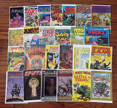 25 Underground Comix (Lot J): Mindwarp (1st), Spiffy, Noof, Hobo  / 3.5 to 6.5