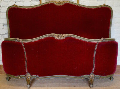 A French Antique 5ft Kingsize Bed Frame inc. Reupholstery (exc. Fabric)