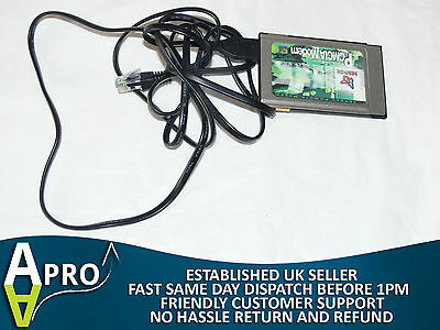 Mentor 56000 Modem Bt9811915 Pcm56Acl-Uk With Dongle Laptop Notebook Pcmcia Card