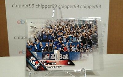 "Jose Bautista ""Bat Flip"" 2016 Topps MINI #96 Only 1000 Made Toronto Blue Jays"