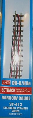 Peco  Setrack Standard Straight Wired 00-9/HOe ST-413